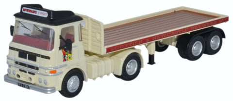 Oxford Diecast ERF LV Flatbed Trailer Scottish & Newcastle