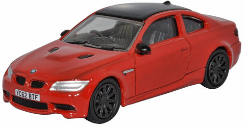 Oxford Diecast Imola Red BMW M3 Coupe 1:76 Scale.