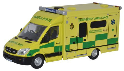 Oxford Diecast Welsh Ambulance - 1:76 Scale
