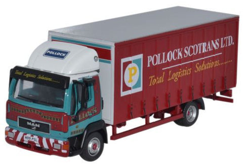 Oxford Diecast MAN L2000 Curtainside Pollock - 1:76 Scale