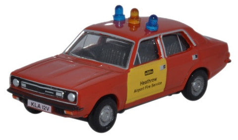 Oxford Diecast Morris Marina Heathrow Fire Service - 1:76 Scale