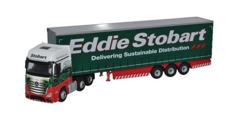 Oxford Diecast Mercedes Actros MP4 GSC Curtainside Eddie Stobart - 1:7