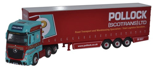 Oxford Diecast Mercedes MP4 GSC Actros Curtainside Pollock - 1:76 Scal