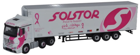 Oxford Diecast Mercedes Actros Solstor (Pink Ribbon Foundation)