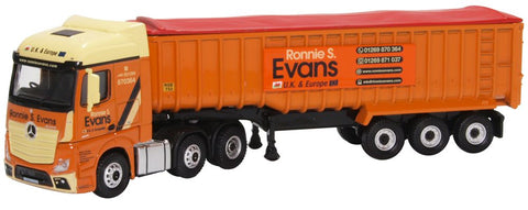 Oxford Diecast Mercedes Actros SSC Tipper Ronnie S Evans