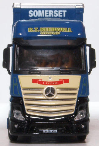 Oxford Diecast Mercedes Actros GSC Curtainside R T Keedwell