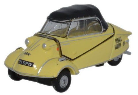 Oxford Diecast Messerschmitt KR200 Cabrio Mimosa Yellow - 1:76 Scale