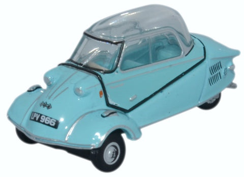 Oxford Diecast Messerschmitt Kr200 Bubble Top Light Blue