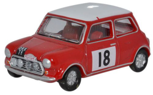Oxford Diecast Mini Cooper S MkII 1968 Monte Carlo Rally - 1:76 Scale