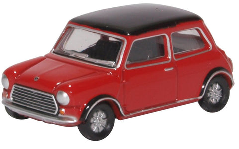 Oxford Diecast Mini Cooper MKII Tartan Red/black
