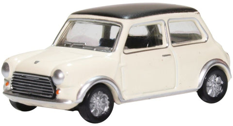 Oxford Diecast Mini Cooper S MkII Snowberry White/black