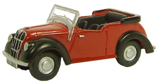 Oxford Diecast Maroon/Black Morris 8 - 1:76 Scale