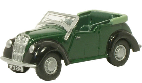 Oxford Diecast Morris 8 Green/Black - 1:76 Scale