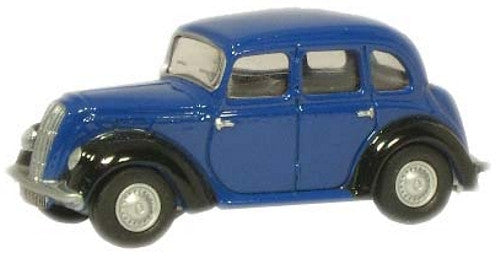 Oxford Diecast Blue Morris Eight E Saloon - 1:76 Scale