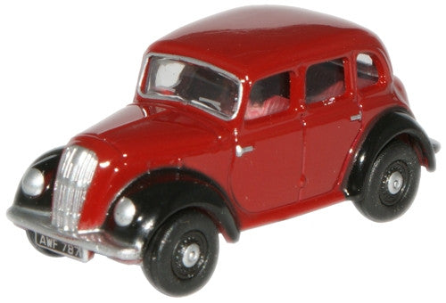 Oxford Diecast Maroon/Black Morris 8 Saloon - 1:76 Scale