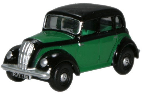 Oxford Diecast Morris Eight Saloon Green & Black - 1:76 Scale