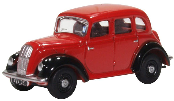Oxford Diecast Morris Eight E Series Saloon Red/black