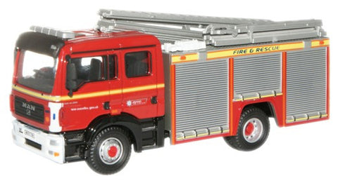 Oxford Diecast Avon Fire & Rescue MAN Pump Ladder - 1:76 Scale