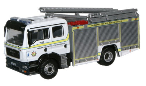 Oxford Diecast Grampian Fire & Rescue Service MAN Pump Ladder - 1:76 S