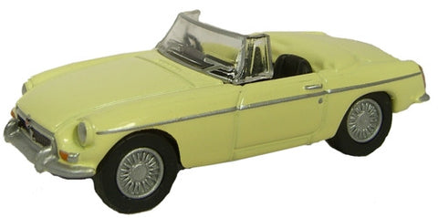 Oxford Diecast Pale Primrose MGB Roadster - 1:76 Scale