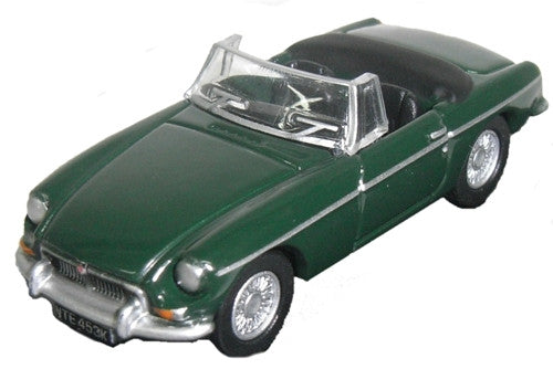 Oxford Diecast MGB British Racing Green - 1:76 Scale