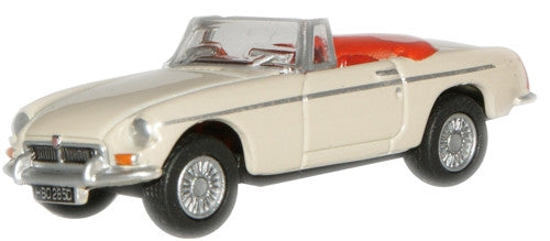 Oxford Diecast Old English White MGB - 1:76 Scale