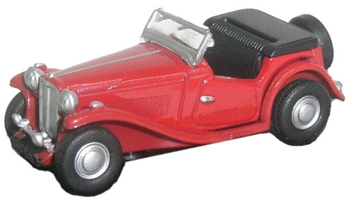 Oxford Diecast MGTC Red - 1:76 Scale