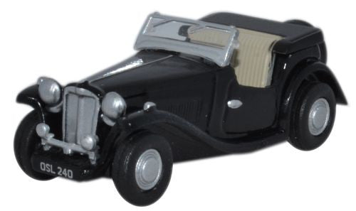 Oxford Diecast MGTC Black - 1:76 Scale