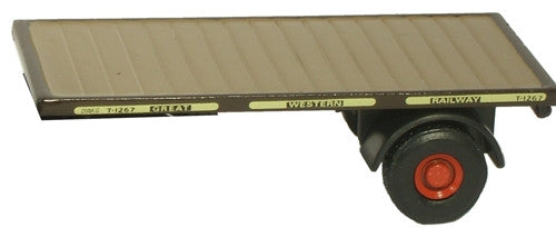 Oxford Diecast GWR Trailer Set - 2 Piece - 1:76 Scale