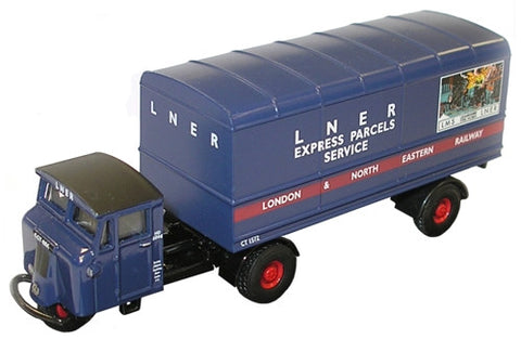 Oxford Diecast LNER Mechanical Horse Van Trailer - 1:76 Scale