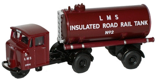 Oxford Diecast LMS Mechanical Horse Tank Trailer - 1:76 Scale
