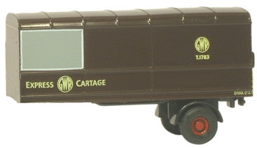 Oxford Diecast GWR Two Piece Trailer  Set - 1:76 Scale
