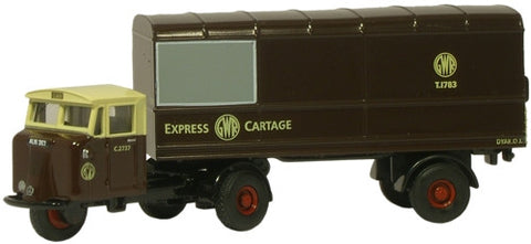 Oxford Diecast GWR Mechanical Horse Van Trailer - 1:76 Scale