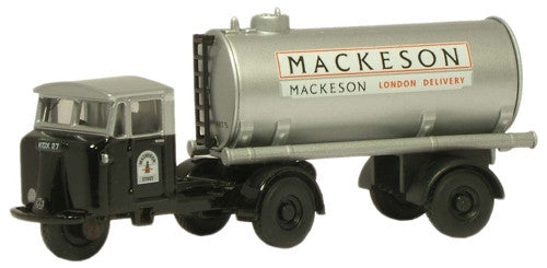 Oxford Diecast Mackeson Mechanical Horse Tank Trailer - 1:76 Scale