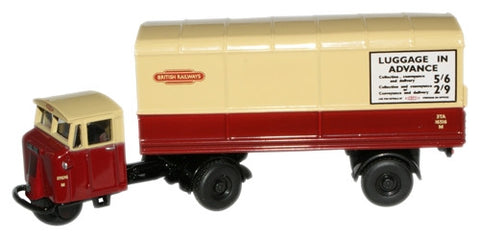 Oxford Diecast British Rail Mech Horse Van Trailer - 1:76 Scale