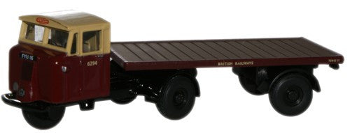Oxford Diecast British Rail Mechanical Horse Flatbed Trailer - 1:76 Sc