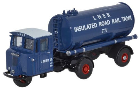 Oxford Diecast Scammell Mechanical Horse Tanker LNER - 1:76 Scale