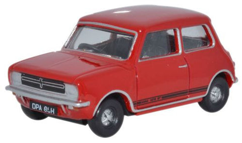 Oxford Diecast Mini 1275GT Flame Red - 1:76 Scale