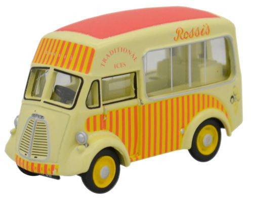 Oxford Diecast Rossis Morris J Ice Cream Van - 1:76 Scale