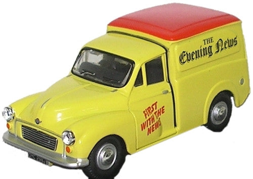 Oxford Diecast Morris Minor Evening News - 1:76 Scale