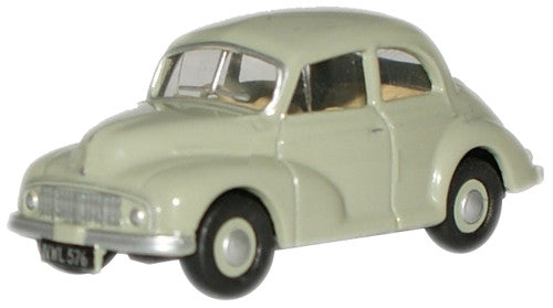 Oxford Diecast Platinum Grey Morris Minor MM Saloon - 1:76 Scale