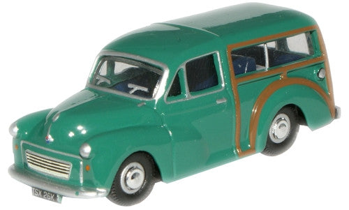 Oxford Diecast Aqua Morris Traveller - 1:76 Scale