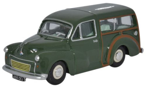 Oxford Diecast Morris Minor Traveller Almond Green - 1:76 Scale