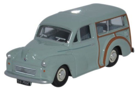 Oxford Diecast Morris Minor Traveller Smoke Grey - 1:76 Scale