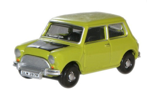Oxford Diecast Classic Mini Lime Green - 1:76 Scale