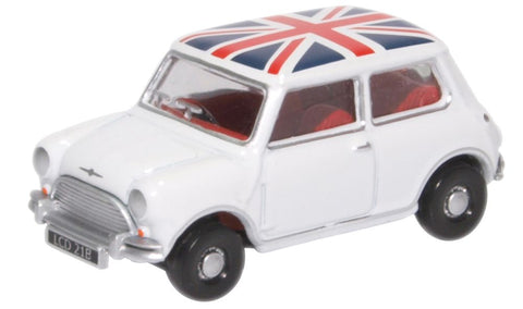 Oxford Diecast Austin Mini Cooper White Union Jack