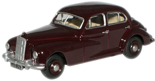 Oxford Diecast Maroon Morris Six - 1:76 Scale