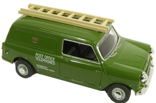 Oxford Diecast Post Office Mini Van With Ladder - 1:76 Scale
