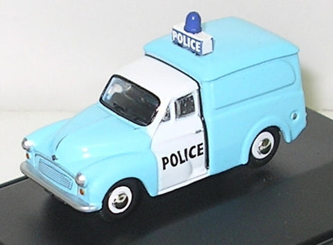 Oxford Diecast Morris Minor Police - Light Bar on Van - 1:76 Scale