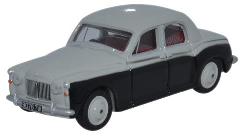 Oxford Diecast Rover P4 Smoke Grey/Black - 1:76 Scale